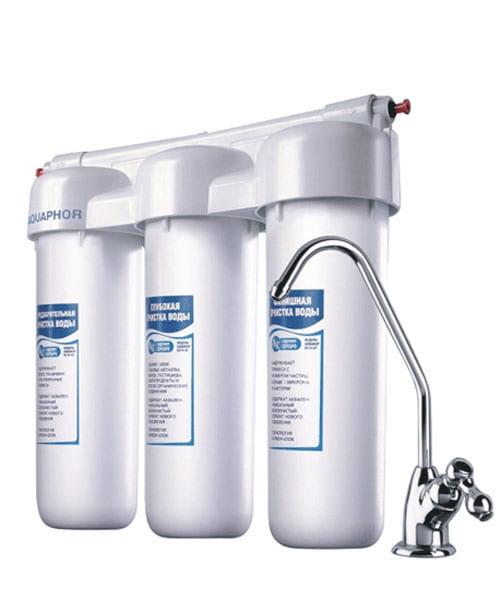Máy Lọc Nước AQUAPHOR TRIO FE ( Cho nước nhiễm kim loại nặng)