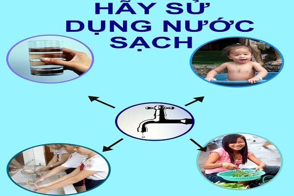 Nước sạch có tác dụng rất lớn cho cơ thể