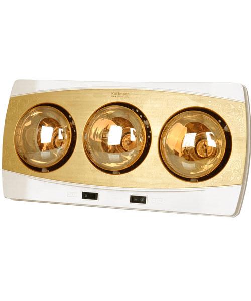 Đèn sưởi nhà tắm Kottmann vàng 3 bóng K3B-H
