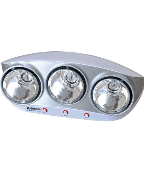 Đèn sưởi nhà tắm 3 bóng Kottmann K3B-S