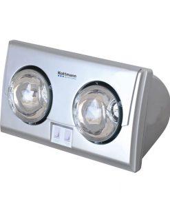 Đèn sưởi nhà tắm Kottmann 2 bóng K2B-S - Bạc