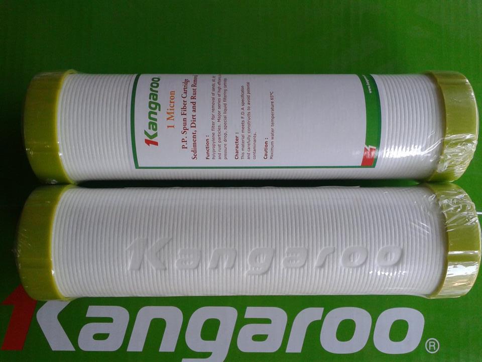 lõi lọc dập nổi kangaroo ống dẫn nước phân biệt và in chữ kangaroo