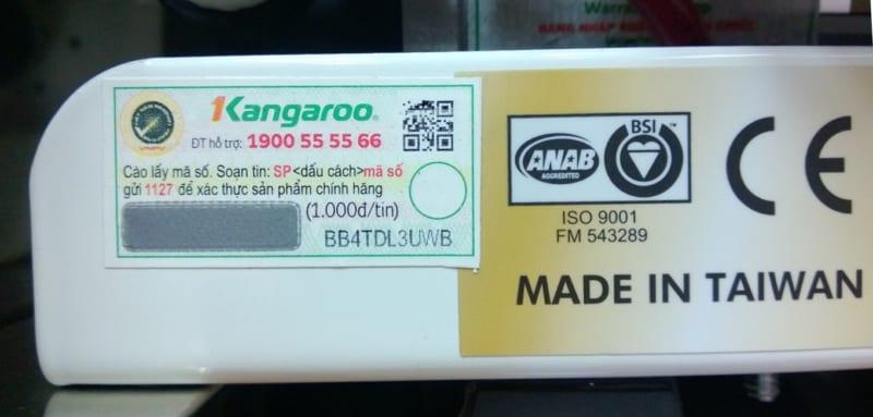 tem chống hàng giả và cách xác thực hàng kangaroo chính hãng