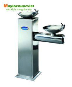 Máy lọc nước công cộng hai bồn tròn và có vòi phía trên Buder BD-3011
