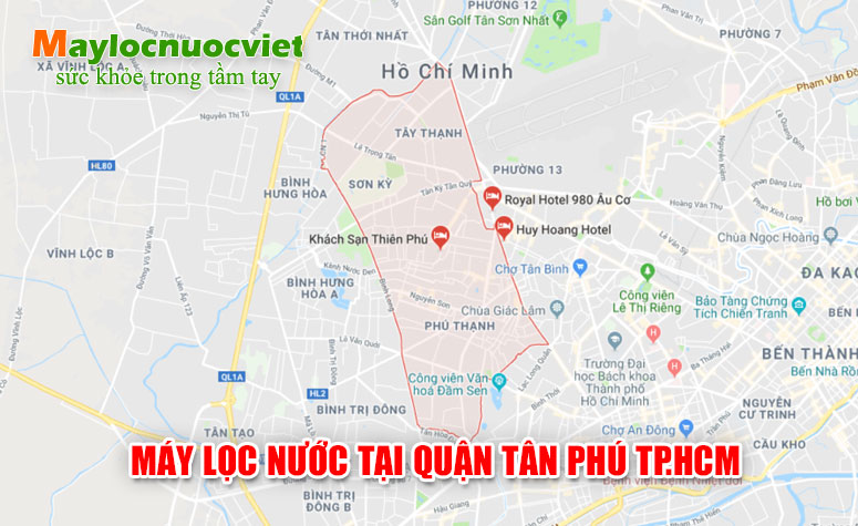 Máy lọc nước tại Tân Phú tại TP.HCM