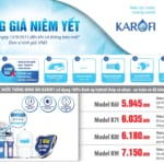 Bảng báo giá máy lọc nước karofi 2019 mới nhất!