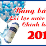 Bảng báo giá Lõi lọc nước Karofi tháng 7,8,9 năm 2018 rẻ nhất HN