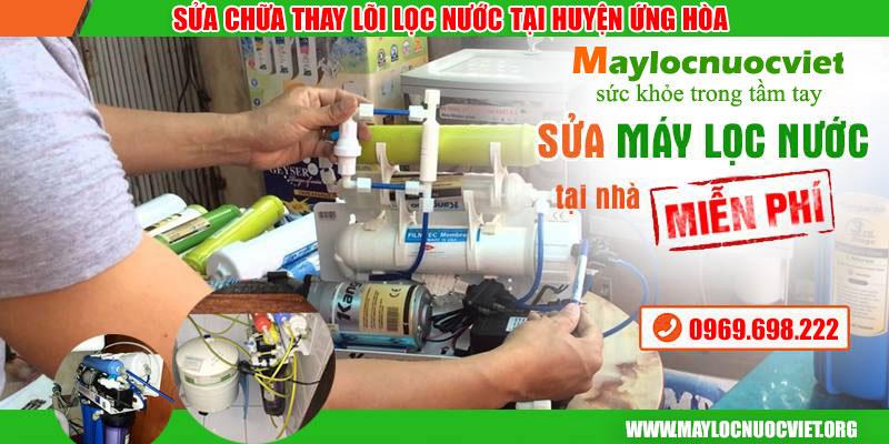Sửa chữa máy lọc nước tại nhà Huyện Ứng Hoà