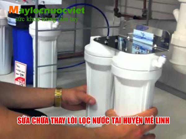 Sửa chữa máy lọc nước tại nhà Huyện Mê Linh