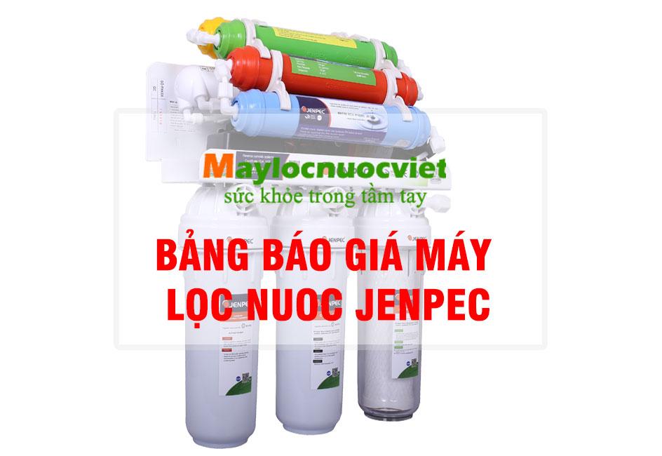 Bảng báo giá máy lọc nước Jenpec 2019 mới nhất!